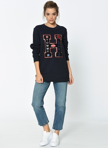 Uzun Sweatshirt-Tommy Hilfiger